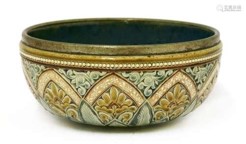 A Doulton Lambeth stoneware bowl,