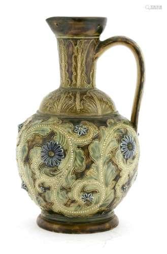 A Doulton Lambeth stoneware ewer,