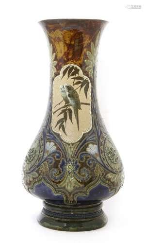 A monumental Doulton Lambeth stoneware vase,