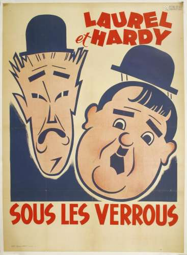 A French Laurel and Hardy poster,