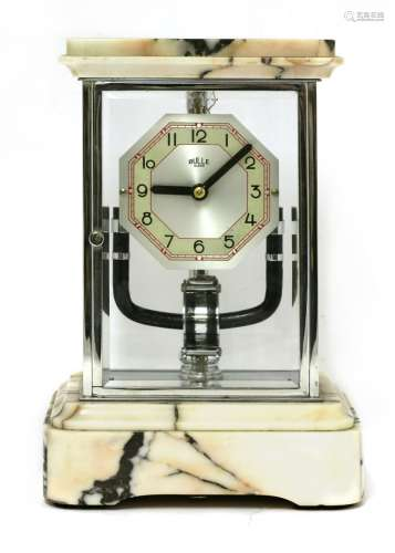 A Bulle electric mantel clock,
