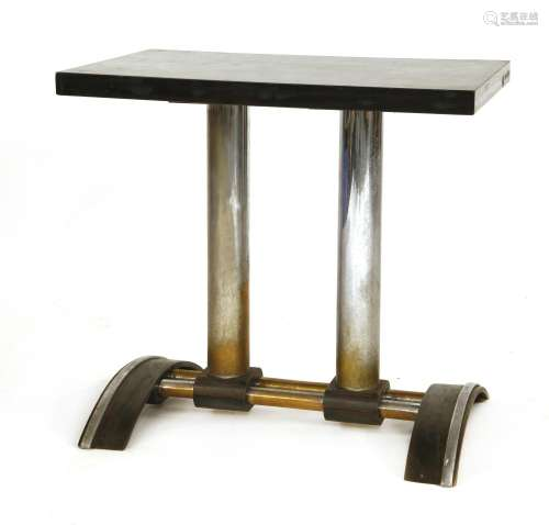 A bistro table,