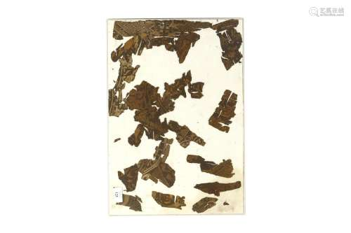 FRAGMENTS FROM TWO CALLIGRAPHIC AND FIGURED SILK TEXTILES