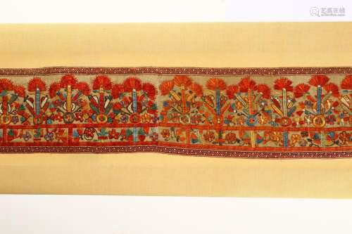 A LONG EMBROIDERED PANEL