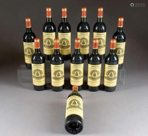Château Angélus 1995. (12 bouteilles). Premier gra…