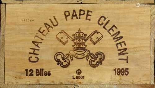 Château Pape Clément 1995. (12 bouteilles). Pessac…