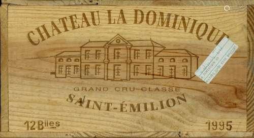 Château La Dominique 1995. (12 bouteilles). Grand …