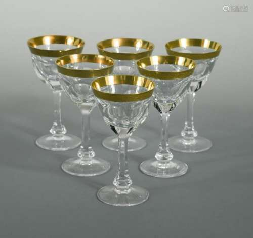 A set of eight Moser Lady Hamilton pattern liqueur