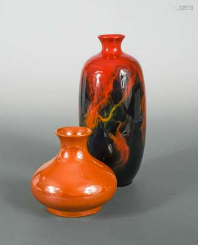 A Royal Doulton flambé Veined Sung vase,