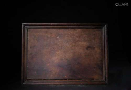CHINESE QING DYNASTY ROSEWOOD TRAY