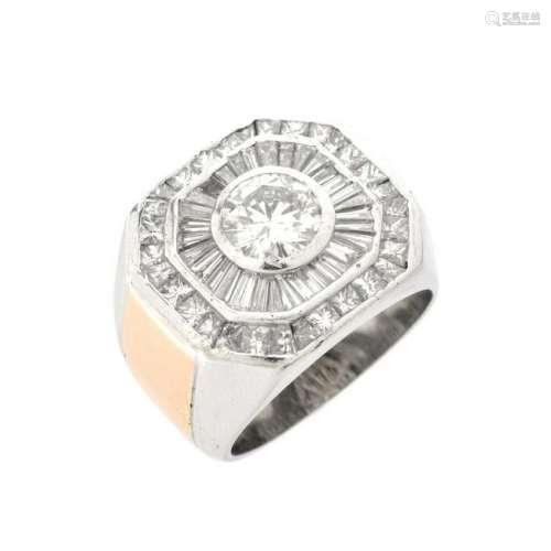 Man's Diamond and 18K Ring