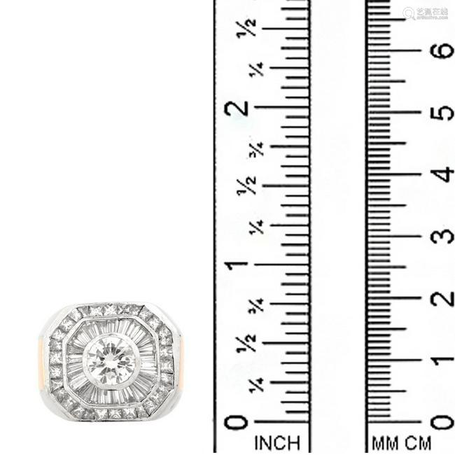 Man's Diamond and 18K Ring