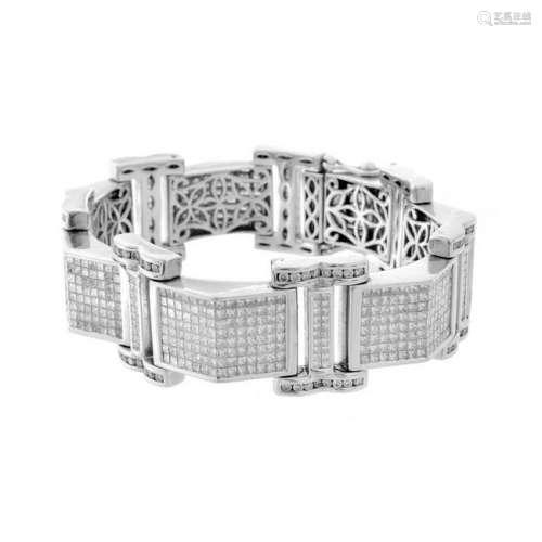Man's Diamond and 14K Bracelet