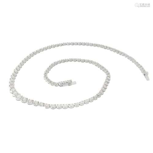 Diamond and 18K Riviera Necklace
