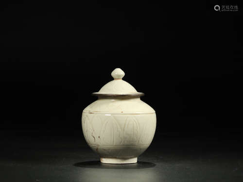 DING PORCELAIN WITH SILVER FILLED CAN