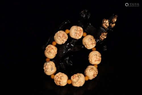 RARE MATERIAL BUDDHA HEAD BRACELET