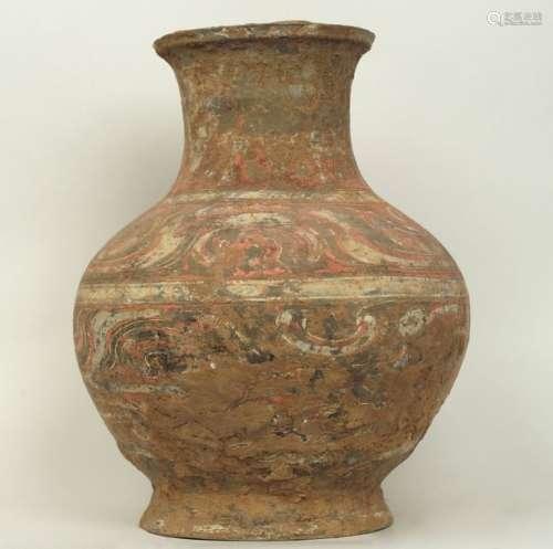 Vase Han ( 200 +220 aprés JC)terre cuite ocre avec…