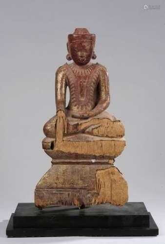 Bouddha vêtu de sa robe monastique Utarasanga et l…
