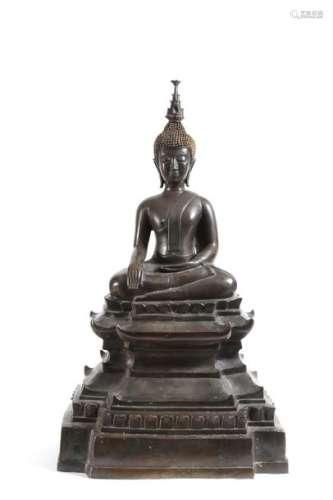 Bouddha, Laos \nBouddha assis en Bhumisparsha Mudra…