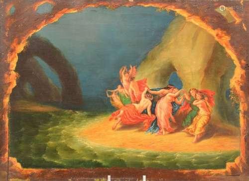 HSP. Tableau mythologique. 19ème. 47x34