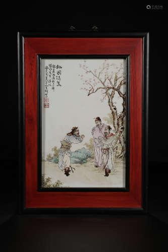 FAMILLE ROSE PORCELAIN PAINTING 'TAOYUAN-SANJIEYI'