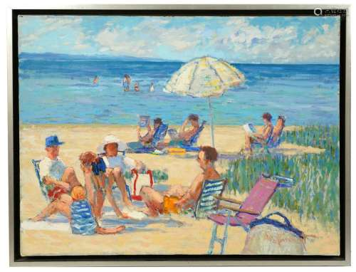 James R. Harrington 'Family Beach Day' O/C