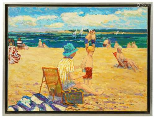 James R. Harrington 'Day at the Beach' O/C