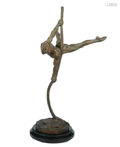 Large Richard MacDonald 'Sasha' Bronze Figure