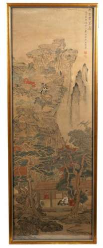 Chinese Large Gilt Framed Scroll