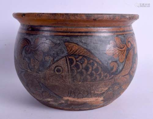 AN UNUSUAL 19TH CENTURY ARTS AND CRAFTS STONEWARE