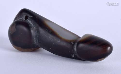 A CENTRAL ASIAN AGATE PHALLIS. 7.25 cm long.
