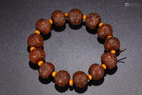 NUT CARVING BRACELET