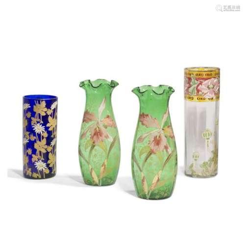 DANS LE GOÛT DE LEGRAS Iris Paire de vases balustr…