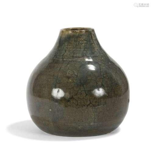 AUGUSTE DELAHERCHE (1857 1940) Vase piriforme à co…