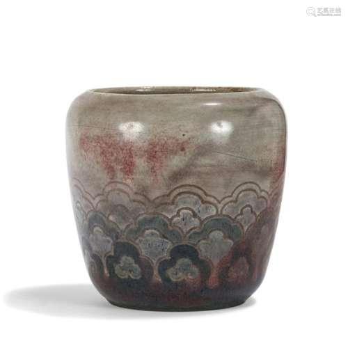 AUGUSTE DELAHERCHE (1857 1940) Vase balustre à trè…