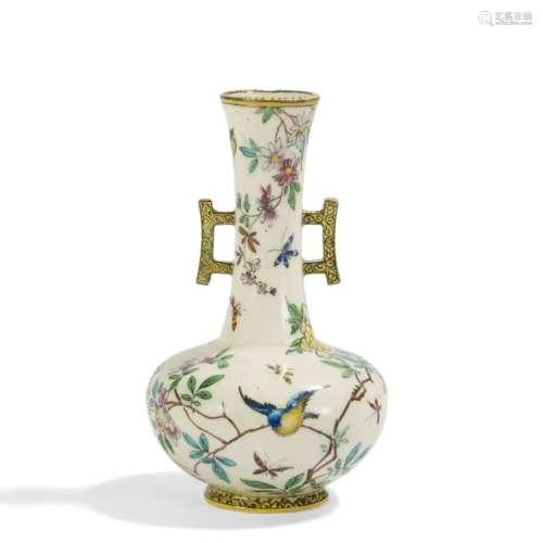 THÉODORE DECK (1823 1891) Oiseaux et papillons par…
