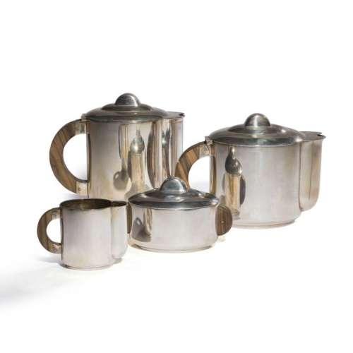 ERCUIS Service à thé et café moderniste en métal a…