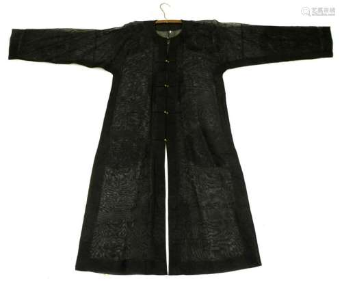 Rare Chinese Qing Dynastry Gauze Summer Coat