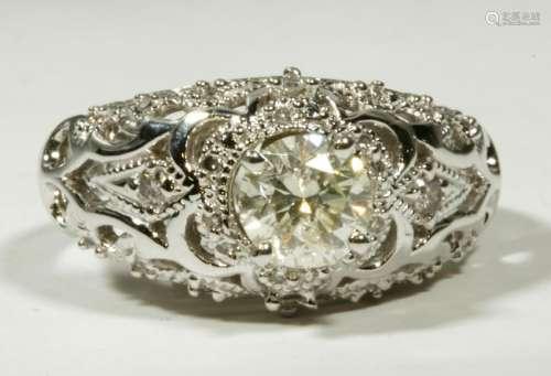 Diamond & White Gold 18K Ring