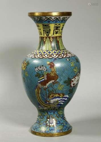 Good Chinese 18 / 19 C Cloisonne Jingtailan Vase