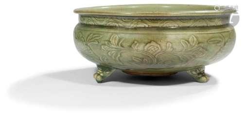 CHINE, Fours de Longquan Époque MING (1368 1644) B…