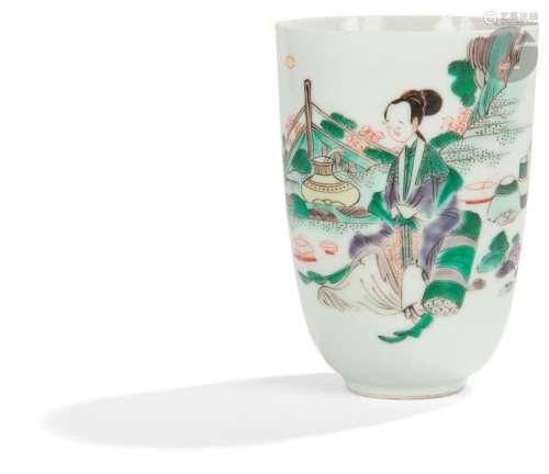 CHINE Époque KANGXI (1662 1722) Gobelet en porcela…