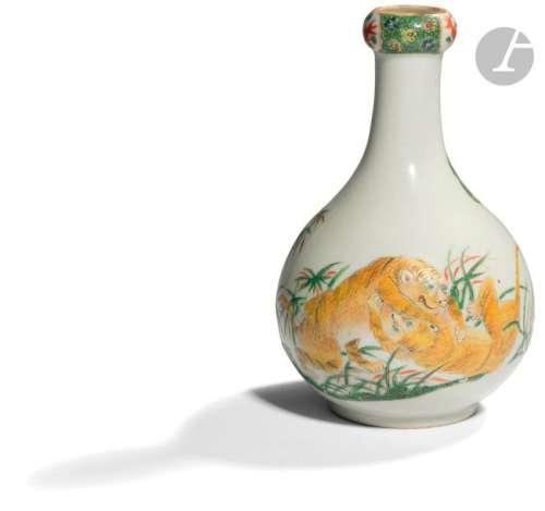 CHINE Fin XIXe siècle Vase à col en gousse d'ail e…