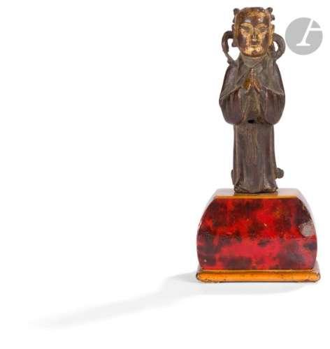 CHINE Époque MING (1368 1644) Statuette en bronze …