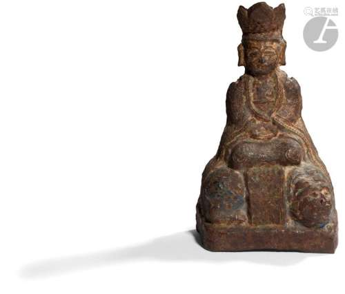 CHINE Époque MING (1368 1644) Statuette en fonte d…