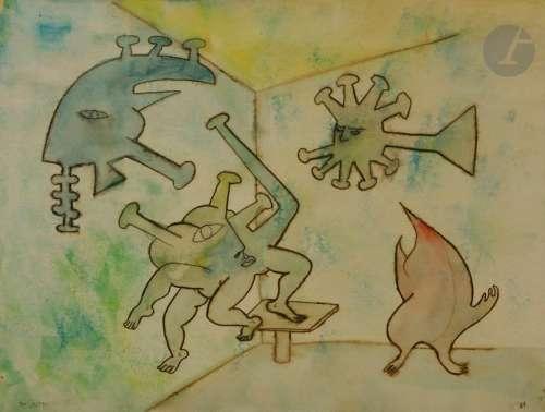 Roberto ALTMANN (né en 1942) Composition surréalis…