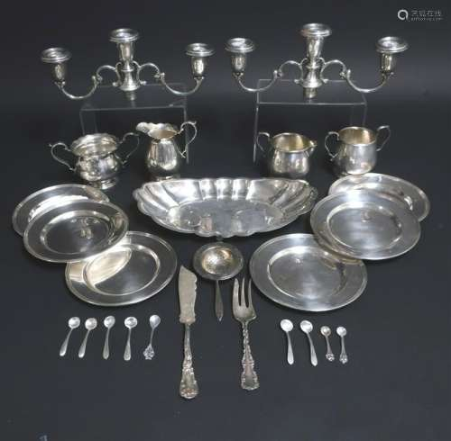 Sterling Silver: Cartier Plates Sugars Creamers