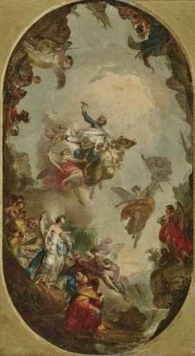 Vinzenz Fischer, 1729 Schmidham near Bad Griesbach (Lower Bavaria) - 1810 ViennaSt Paul in Glory