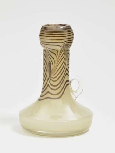 A JugErwin Eisch, Frauenau, circa 1975/80 Glass, white melting. Base inscribed Eisch. Height 21 cm.