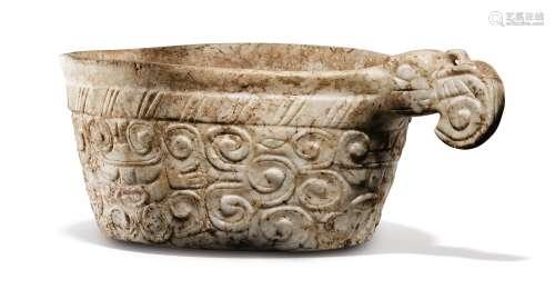 Vase en pierre à décor incisé<br />Culture Maya, Vallée de l'Ulúa<br />Classique Récent/Postclassique Récent, 800-1000 AP. J.-C.